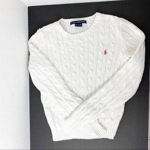 Ralph Lauren Sport Cable Crewneck Sweater Cotton